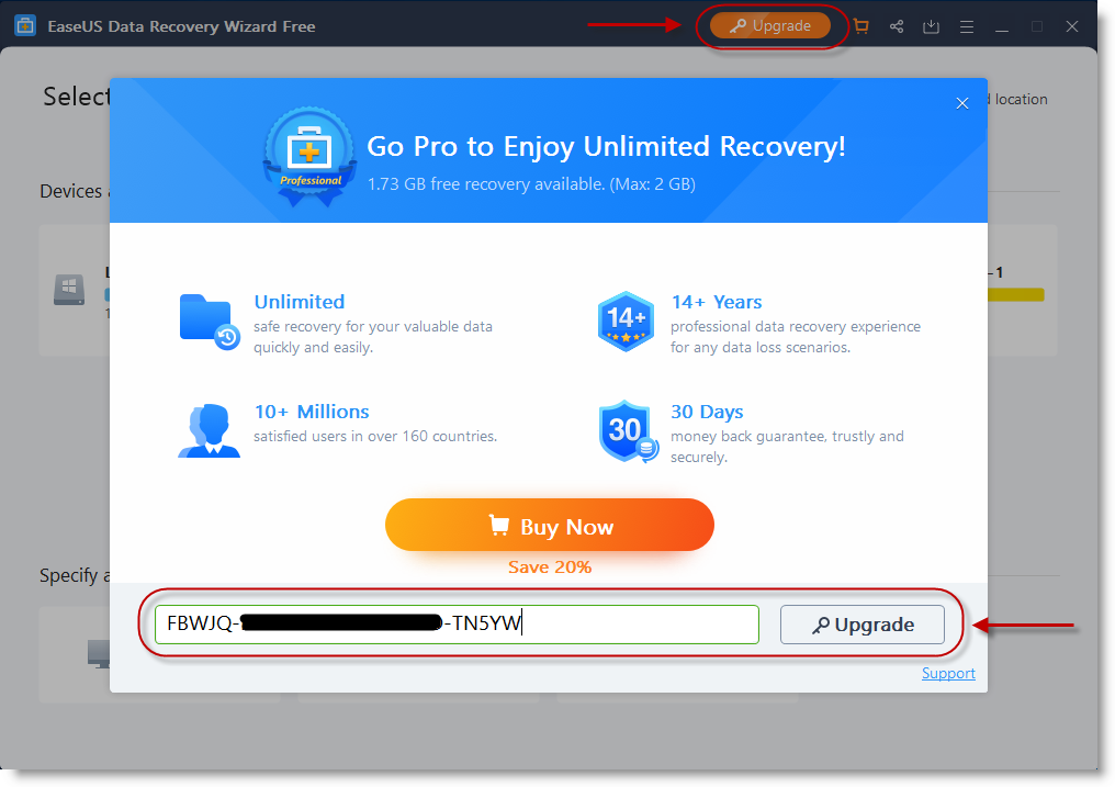 licence code for easeus data recovery 12.0.0