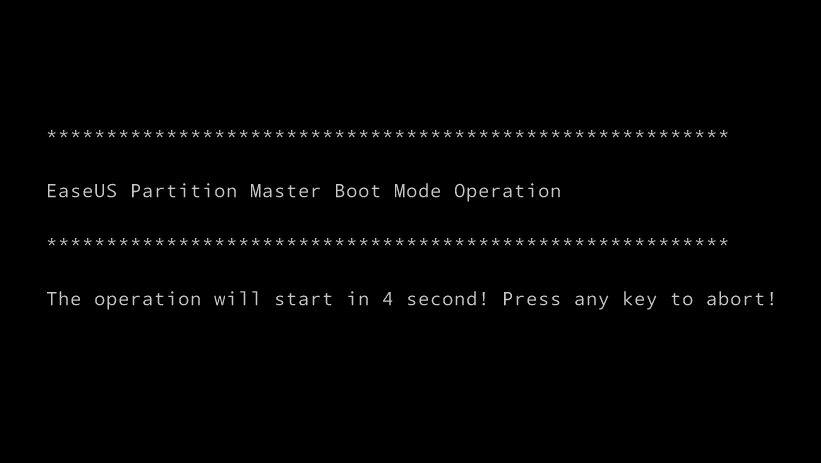 EaseUS Partition Master boot mode operation