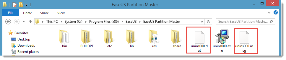 Uninstall partition master by running unins000