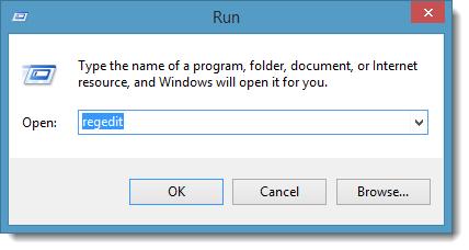 Open Registry Editor to delete registry information