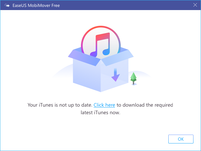 iTunes is needed to transfer data effectively
