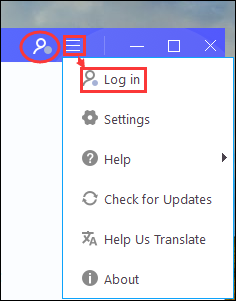 Click Login in Title or More to get the pop-up login box