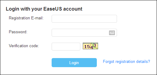 Log in your EaseUS account on EaseUS official website