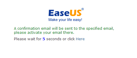 Activate your EaseUS Account