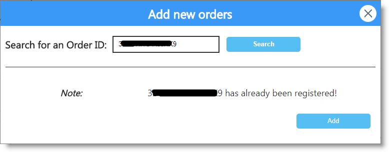 Get the order list after adding your new orders