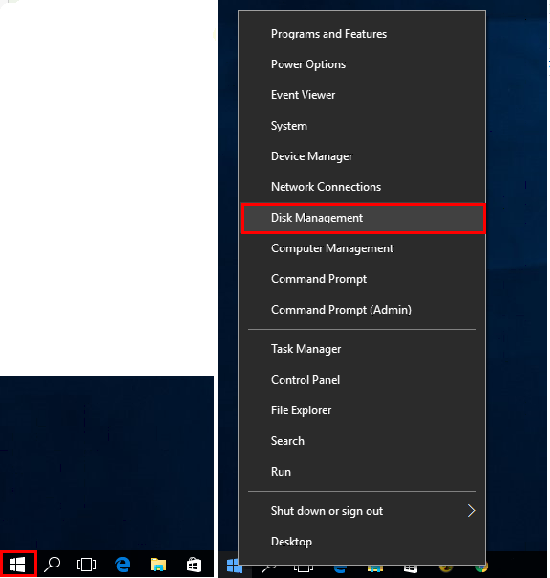 How to access disk management in Windows 8/10