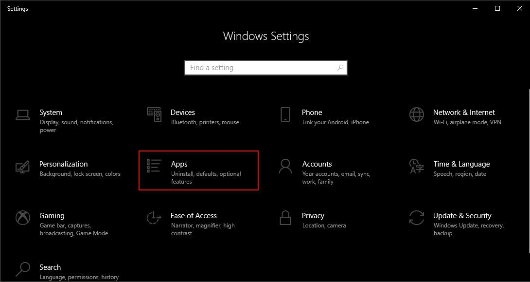 Change settings for installing App from Windows Store