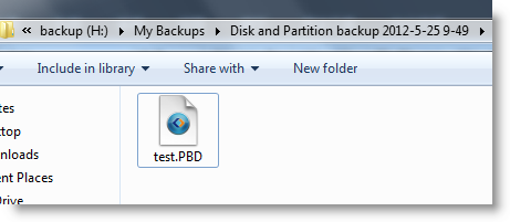 A PBD image file created after backup
