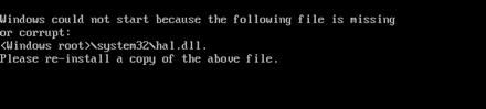 Re-install Windowssystem32hal.dll file